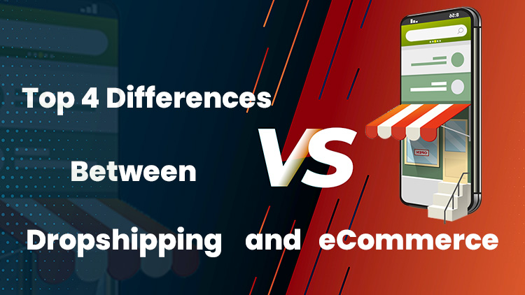 difference between dropshipping and ecommerce